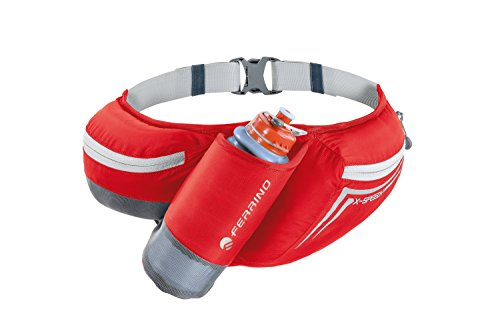 Ferrino X-Speed, Marsupio con Inserto per Borraccia Unisex, Rosso