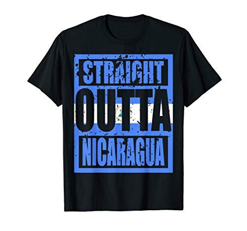 Straight Outta Nicaragua TShirt Funny Gift T-Shirt