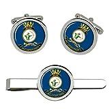 Giftshop UK Hmas Arquero Royal Australian Marino Gemelos y Corbata Clip Set