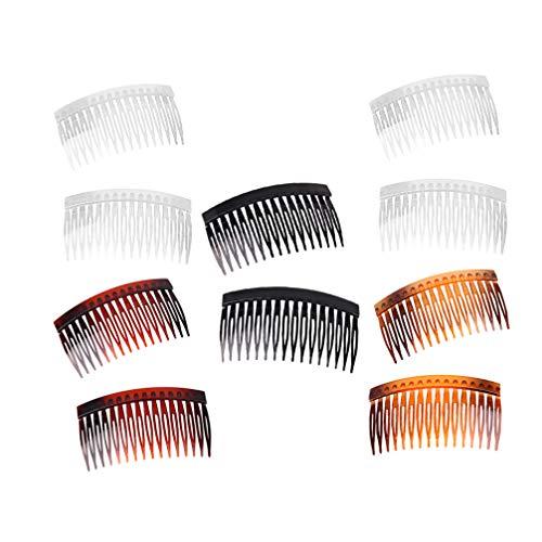 Solustre 20pcs Kunststoff Haarspange Kämme Seitenkamm Frauen Mädchen Damen Kopfschmuck Haarschmuck Hochsteckfrisuren Zubehör
