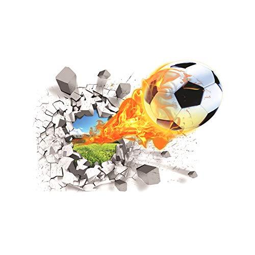 Newin Star Fussball Wandtattoo, kreative 3D-Football-Wand-Aufkleber-entfernbare Vinyl Sport Aufkleber Wandtapeten Dekoration für Junge Zimmer