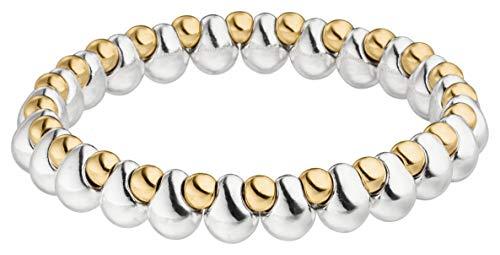 Tamaris Damen Armband Elli 18 cm Perlenband Bicolor mit Nylon Zugband TF074