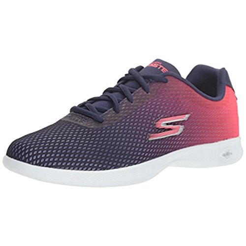 Skechers Go Step Lite-Interstelllar, Zapatillas para Mujer, Azul (Navy/Pink), 37 EU