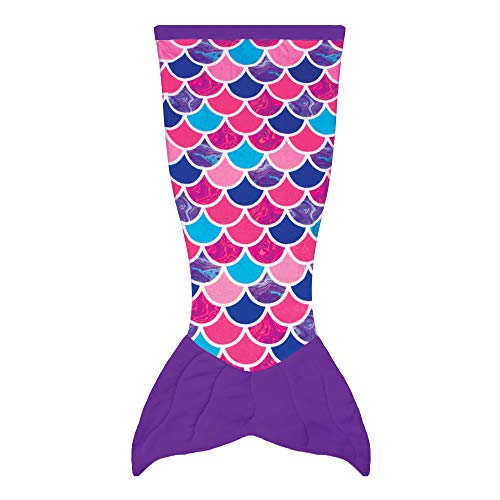 Fin Fun Mermaid Tail Blanket for Kids Cuddle Tails, Adult, Sea Orchid