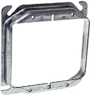 Hubbell Raco 8779 Raised 3/4-Inch 4-Inch Square Mud-Ring for 2 Devices