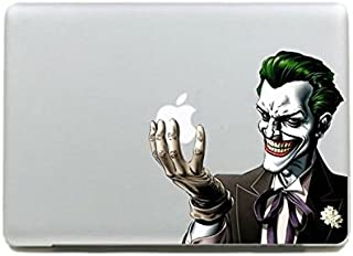 Color Joker Holding Glowing Apple - DIY Personality Vinyl Decal Sticker for Apple MacBook Pro/Air 13 15 11 Inch Laptop Cas...