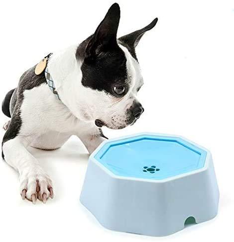 DZL- Tazón Flotante para Mascotas Bebedero Perro Tazón de Bebida Agua Flotante para Perro Gato Pájaros Mascotas Anti-Desbordamiento22*22 * 8cm (Aleatorio)