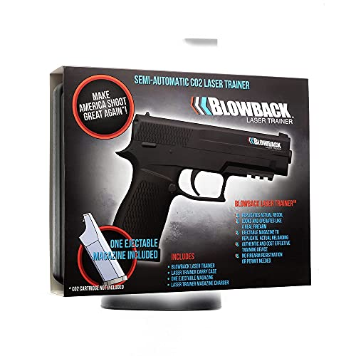 Blowback Laser Trainer System - Ultra-Realistic Training Hand Gun with Real Recoil - Includes Target for Dry Fire Shooting Practice - 9mm Pistol for Indoor Firearm Range Shooting - Perfect Mens Gifts