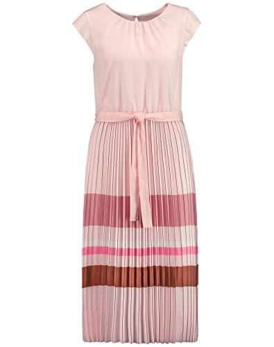 Gerry Weber Damen Kleid mit plissiertem Rockteil tailliert Rosenwasser 36