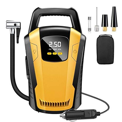 MLX 120W 150 PSI Auto Reifen Inflator Auto Luftkompressor Pumpe Digitale LED Reifenfüllmaschine Smart Handheld Aufblasbare Pumpe 22 Zylinder LIYSJ