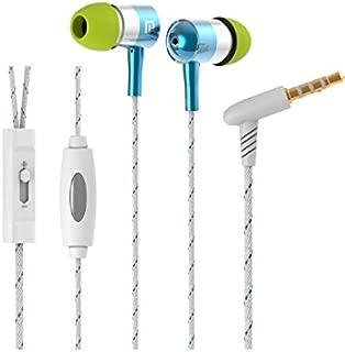 Langston ® Vodafone Smart Prime 6 Smartphone 5 Inch Azul Trenzado Metal Auriculares in ear de Alta Definición Sonido Estéreo Con Micrófono & Control de Volumen