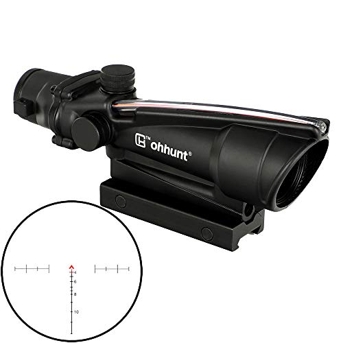 ohhunt 5X35 Real Fiber Scope Red or Green Reticle Tactical Optical Sights (Red Reticle)