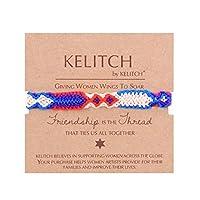 KELITCH カラフルなラップブレスレット 調節可能な編み込みファッションチャームジュエリー 友情に