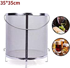 YUEWO Filter Extra Large13.7x13.7 Inch Brewing Hopper Spider Strainer 304 Stainless Steel 300-400 Micron Mesh Homebrew Hops Beer Tea Kettle Brew Filter