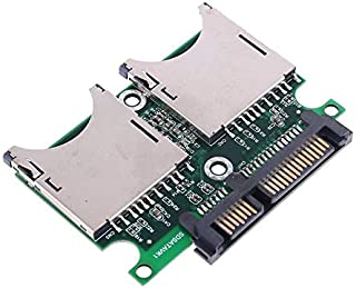 كابلات ووصلات الكمبيوتر - محوّل مزدوج SDHC MMC RAID إلى محول مع حاوية للبطاقات