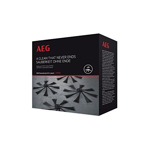 AEG ARSB2 Seitenbürsten für den RX9 Saugroboter (4er Pack, Ersatzbürsten, präzises und gründliches Saugen, optimale Staubaufnahme, extra weich, einfaches Tauschen) schwarz