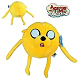 Adventure Time - Personnagio Peluche Jake (Il Cane) 30cm in Piedi e 23cm seduti - Buona qualità