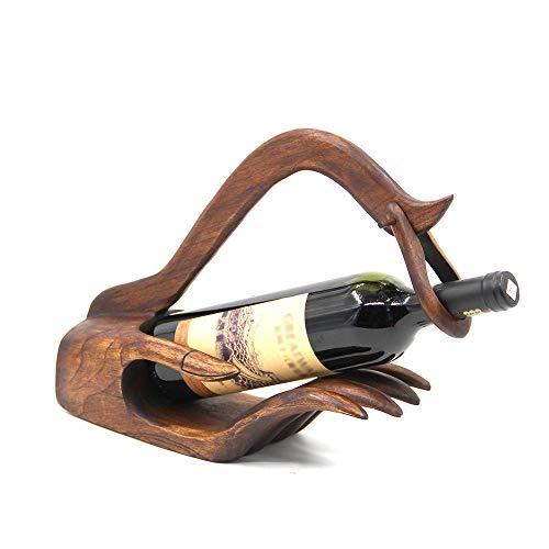 Générique Casier à vin en Bois Massif Fait à la Main de Style thaï Doigt à Droite Doigt en Bois casier à vin en Bois présentoir à vin Main Droite