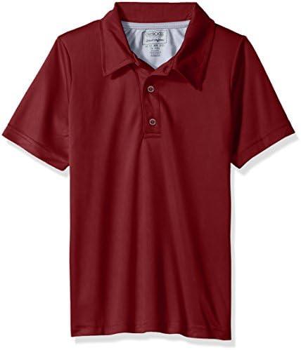 Cherokee Boys Uniform Short Sleeve Performance Polo Shirt burgundy 10 12 product image