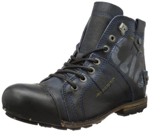 Yellow Cab Herren Industrial M Biker Boots, Blau (Blue), 46