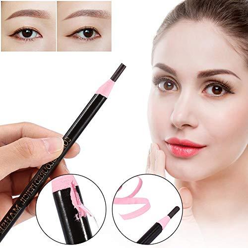 12pcs / set crayon à sourcils crayon crayon pinceau Definer étanche stylo sourcils beauté cosmétiques(Cafe)