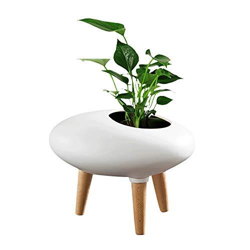 MRFX Maceta de cerámica de estilo nórdico Maceta blanca moderna y minimalista Maceta de sala de...