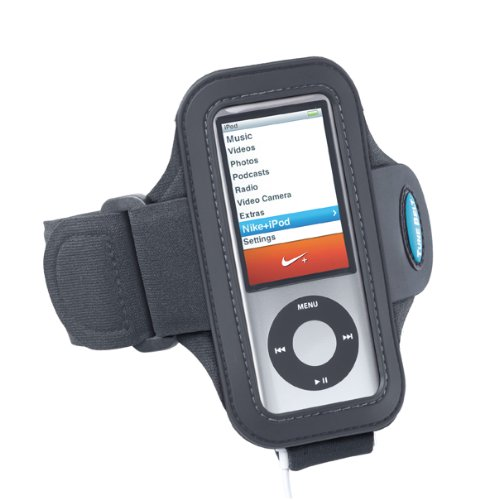 Tune Belt Armband for iPod Nano 4th and 5th Generation - use with or Without Nike+ Receiver