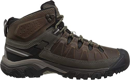 KEEN Men's Targhee 3 Mid Height Waterproof Hiking Boot, Bungee Cord/Black, 11.5 D (Medium) US