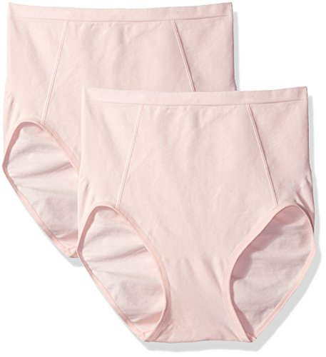 Bali Women's Shapewear Seamless Brief Ultra Control 2-Pack, Blushing Pink/Blushing Pink, X-Large