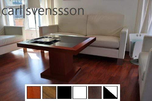 Carl Svensson Design Couchtisch S-360 Glas 7 erhältlich (Kirschbaum mit getöntem Glas)
