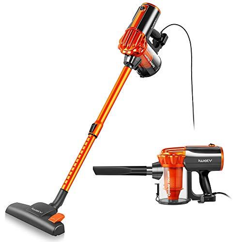 Stick Vacuum Cleaner Corded 23ft, iwoly Small Handheld Hardwood Floor...