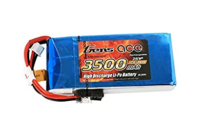 Gens ace LiPo Battery Pack 3500mAh 7.4V RX 2S with FUTABA Plug for RC Car RC Helicopter RC Airplane RC Hobby RC Boat RC Truck Traxxas Slash Emaxx HPI Strada Electric Buggy Kyosho GP 4WD RACING TRUCK