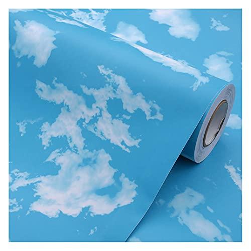 foglio autoadesivo PVC Impermeabile Antibatterico e Anti-umidità per Mobili Realizzazione di Superfici Facile da Pulire Rivestimento Carta Adesiva Legno (Size:60cm*12m,Color:Blue sky and clouds)