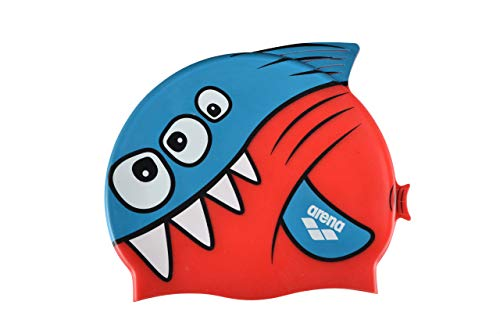 Arena awt Cap Gorro de natación niños Fish, Juventud Unisex, Red, Tu