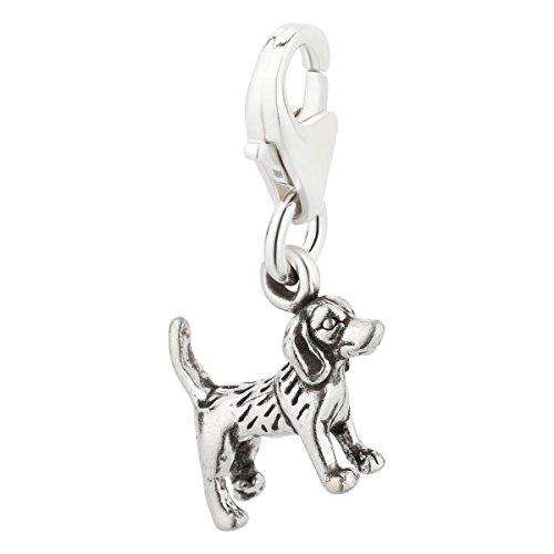 Charm Anhänger Hund Beagle aus 925 Sterling Silber