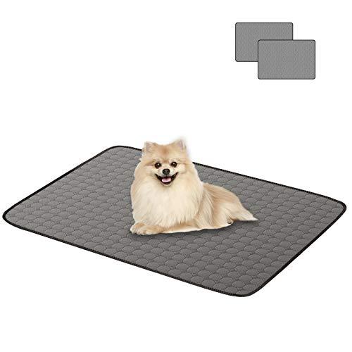 Alfheim Reusable Pet Training Pads, 2-Pack Premium Water Absorption Dog Pee Mats with Non-slip Bottom