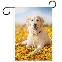 庭の装飾の屋外の印の庭の旗の飾り秋は動物の犬を葉します テラスの鉢植えのデッキのため