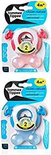 Tommee Tippee Closer to Nature Teether (Stage 2, Pack of 2), 43645210 Pink