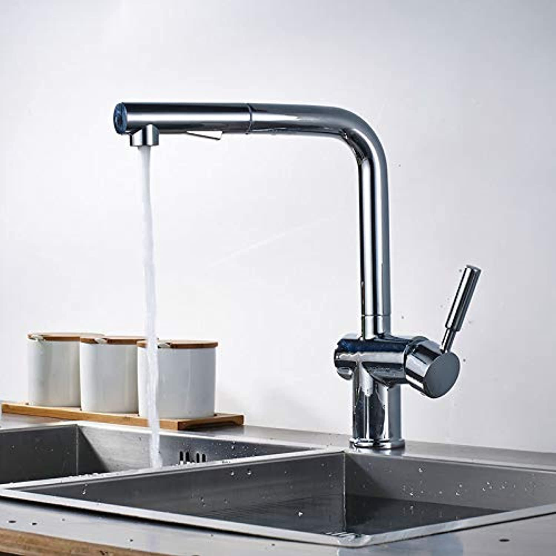 SLTYSCF wasserhahn Nickel gebürstet ziehen Küchenarmatur einzigen Handgriff Bad Küche warm und kalt Wasserhhne Deck montiert