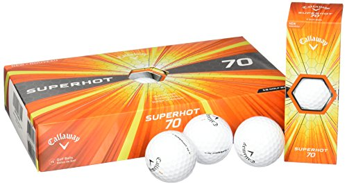 Callaway Superhot 70 Golf Balls, Prior Generation, White (Pack of 15)