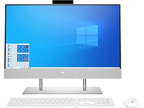 HP AlO 11th Gen Intel Core i5 60.5 cm (23.8-inch) FHD Touchscreen All-in-One Desktop (8GB/256GB SSD+ 1TB HDD/IR Camera/Windows 10/MS Office 2019/Wireless Keyboard & Mouse/Natural Silver), 24-dp1802in