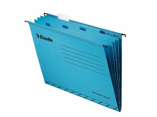 Esselte Pendaflex - Paquete de 10 carpetas colgantes con 4 separadores, formato A4, azul