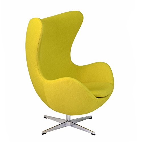 Design Tree Home Arne Jacobsen Inspired Egg Swivel Chair,...