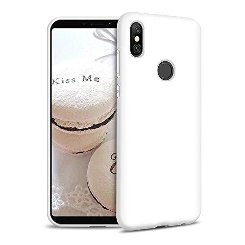 Funda para Xiaomi Redmi S2 Carcasa Silicona Xiaomi Redmi S2, Silicona Gel TPU Case Goma Colores del Caramelo Anti-Rasguño Resistente Ultra Suave Protectora Caso - Blanco