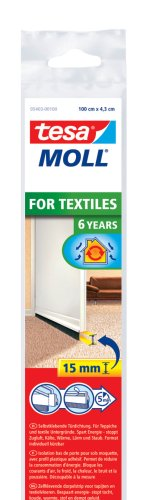 tesamoll Türdichtschiene für Textilböden/Teppich, weiß