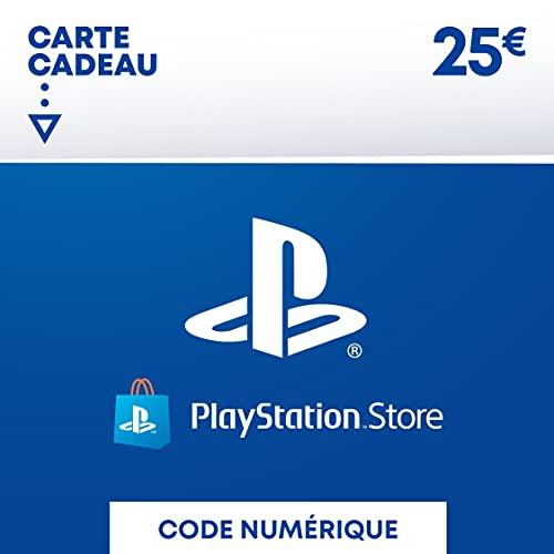 Carte PSN 25 EUR   Compte français   Code de téléchargement (PS5/PS4/PS3)
