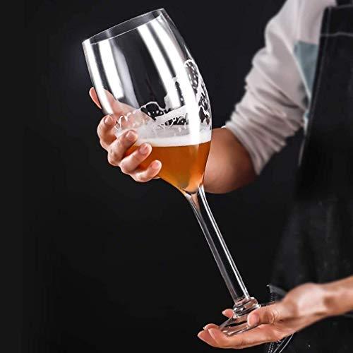 Sucastle Übergroße Riesen Martini Cocktailglas überdimensionierten Riesenbiergläser Extra Large Weinglas, Stielglas, Glas Held Cup (Color : 3300ml)