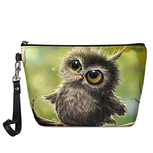 Xhuibop Makeup Bag for Purse Cute Owl Gifts for Women Cosmetic Bag Small Leather Clutch Wristlet Zipper Kids Pencil Pouches for School Girls Toiletry Organizer Travel Cosmetic Pouch Bag Holiday Gifts