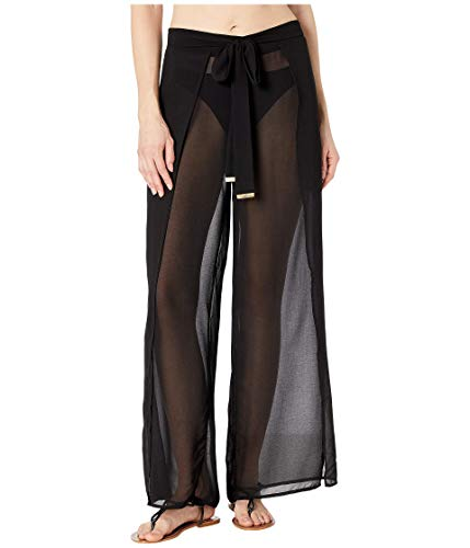 Michael Michael Kors Sólidos Cubre Pantalones con Cinturón -  Negro -  X-Small