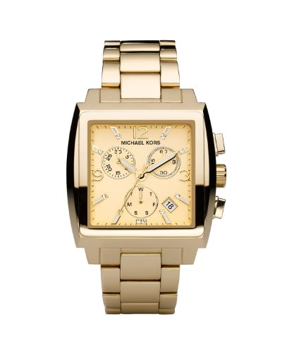 Michael Kors Chronograph Gold Tone Dial Women